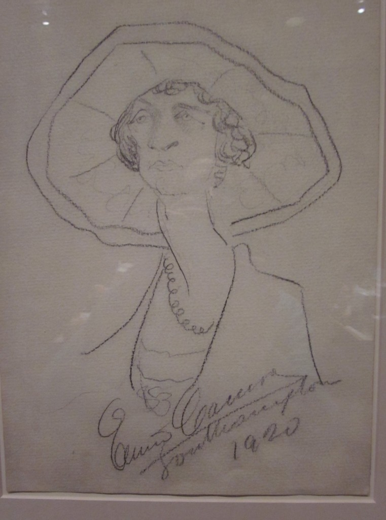 Enrico Caruso (1873 - 1921) Lady with hat, Southampton.