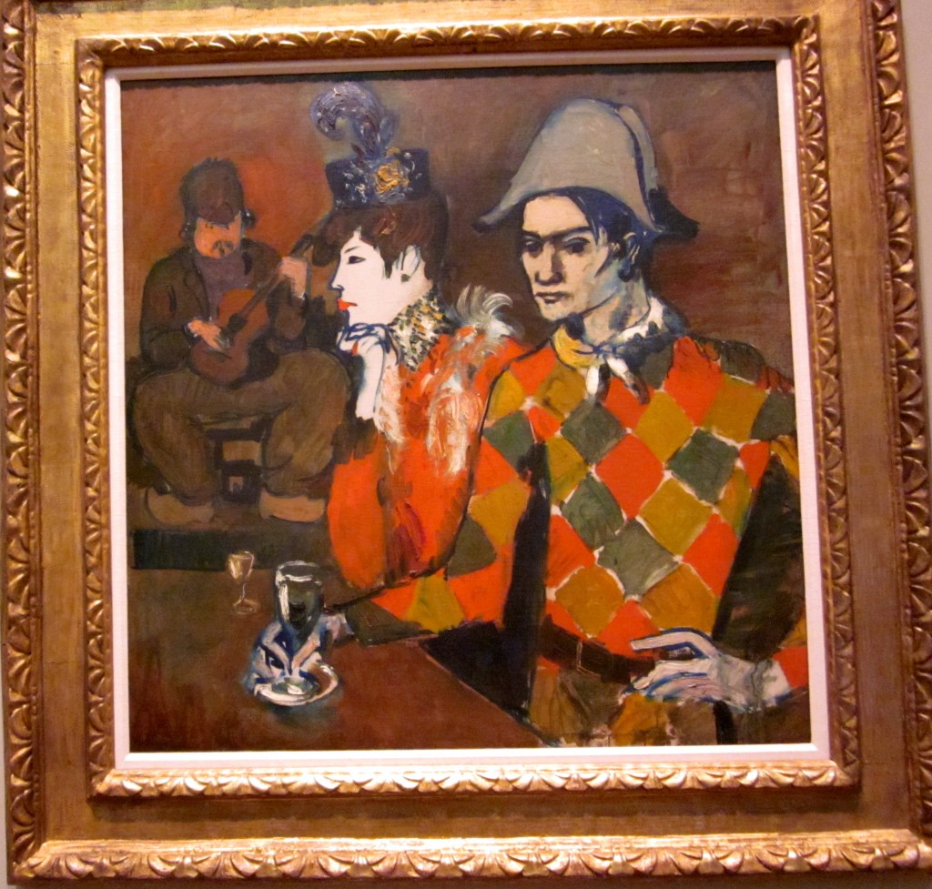 Pablo Picasso (1881 - 1973) At the Lapin Agile.