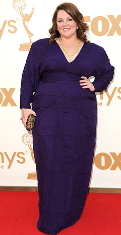 Best Comedy Actress, Melissa McCarthy worked with Daniela Kurrle to create a dress of her own design