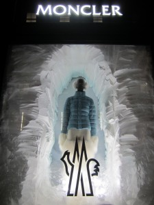Icebergs in the Windows at Moncler