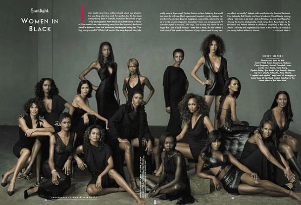 Vanity Fair September 2001 issue celebrates black models