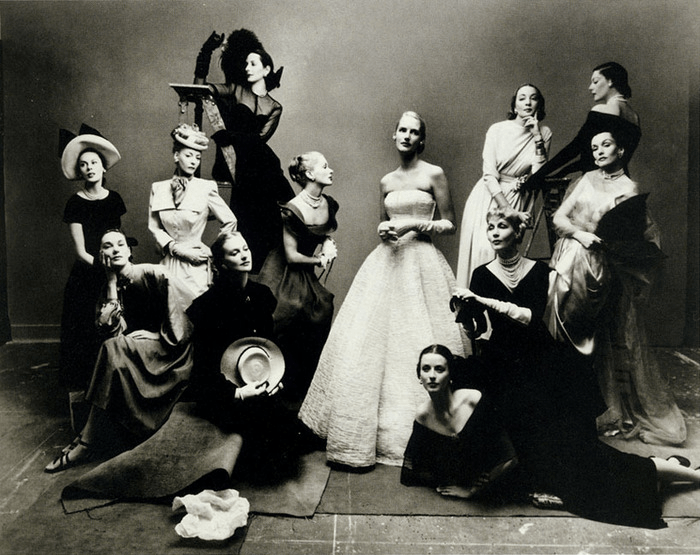 Photo from 1947 group portrait of most photographed models of the decade