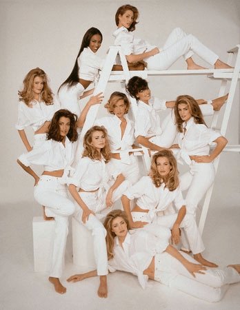 Vogue's April 1992 issue with the top models of the 80's and 90's
