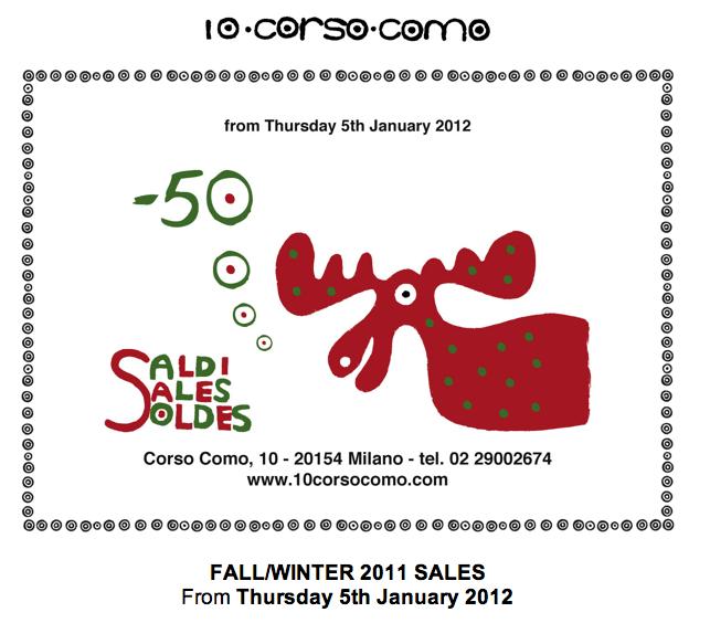 10 Corso Como is Having their Winter Sale!