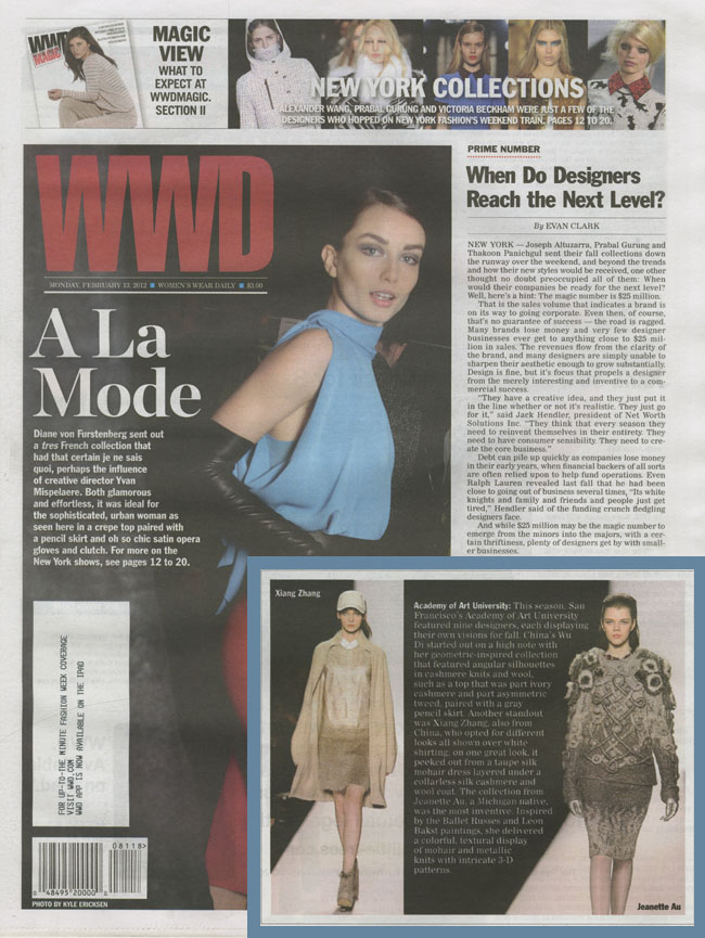 Academy of Art University Designers Featured in Women's Wear Daily