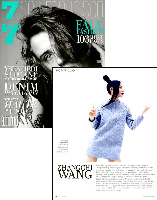 Zhangchi Wang Featured in 7×7′s Fall Fashion Issue!