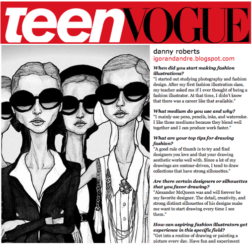 Danny Roberts Featured on Teen Vogue - Fashion School Daily ...