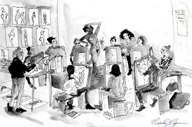 Illustrating an Illustration Class - Fashion School Daily ...
