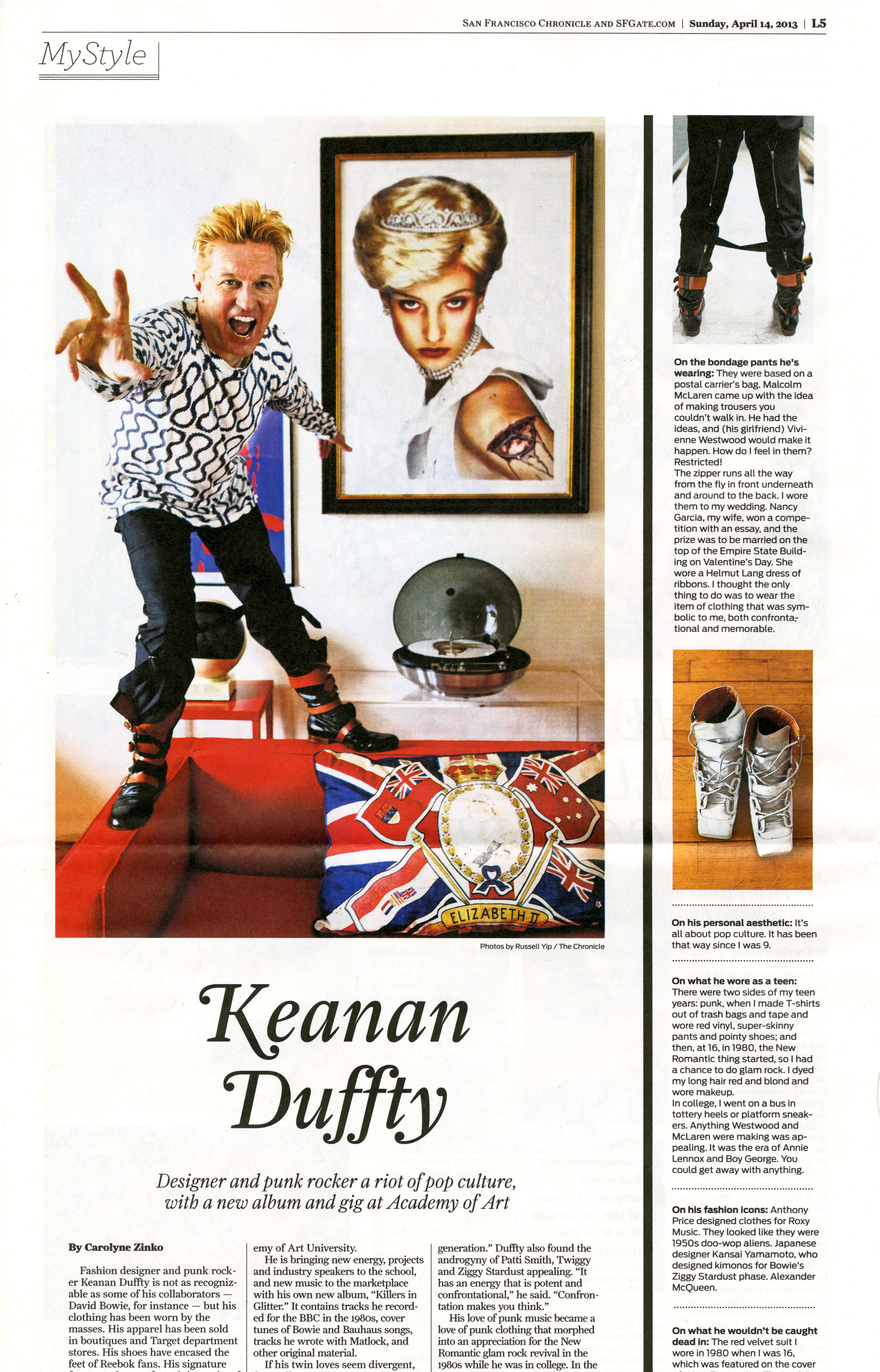 Keanan Duffty, Senior Director of Fashion Merchandising, featured in the San Francisco Chronicle