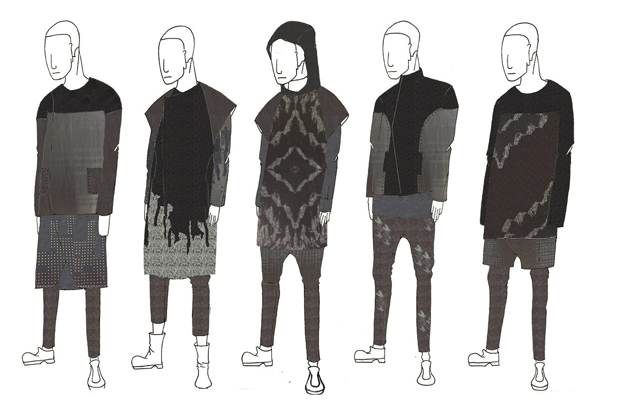 Spring 2014 Illustration Lineup, Sketch by Frank Tsai, Textile Design by Andrea Nieto