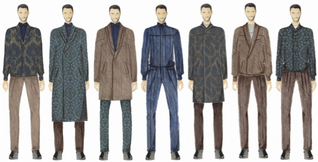Illustration Lineup for her Fall 2014 Collection