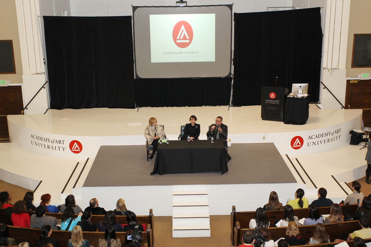 Q&A with Gladys Perint Palmer, President Elisa Stephens, and Simon Ungless by Bob Toy