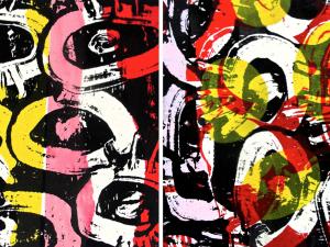 Textile Print by Ghazaleh Khalifeh