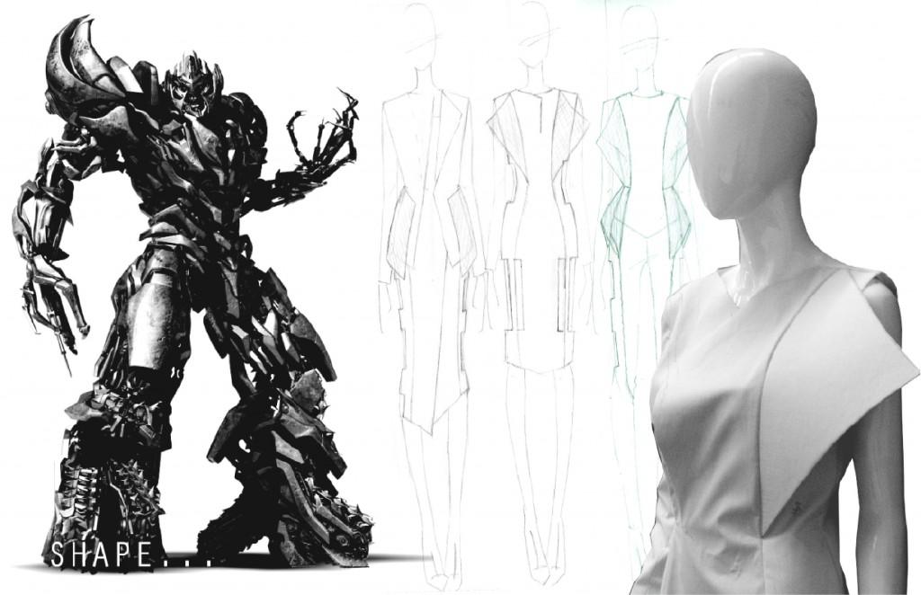 Inspiration drawn from Megatron.