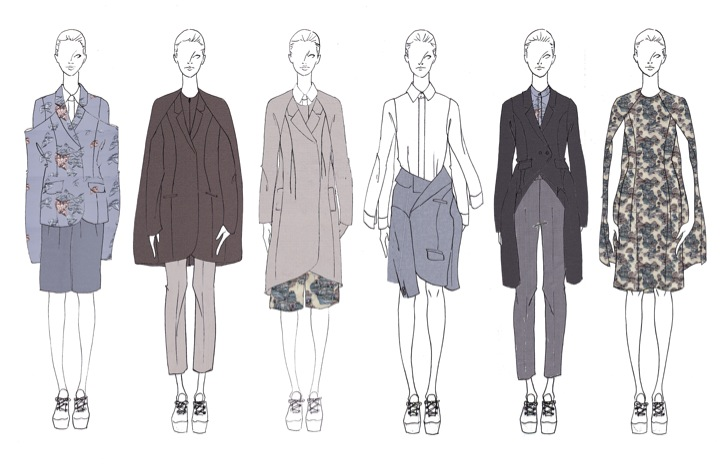 Illustration lineup for Taylor's collection.