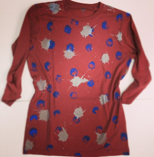 Custom textiles created on UNIQLO garments by Daniel Leidheiser