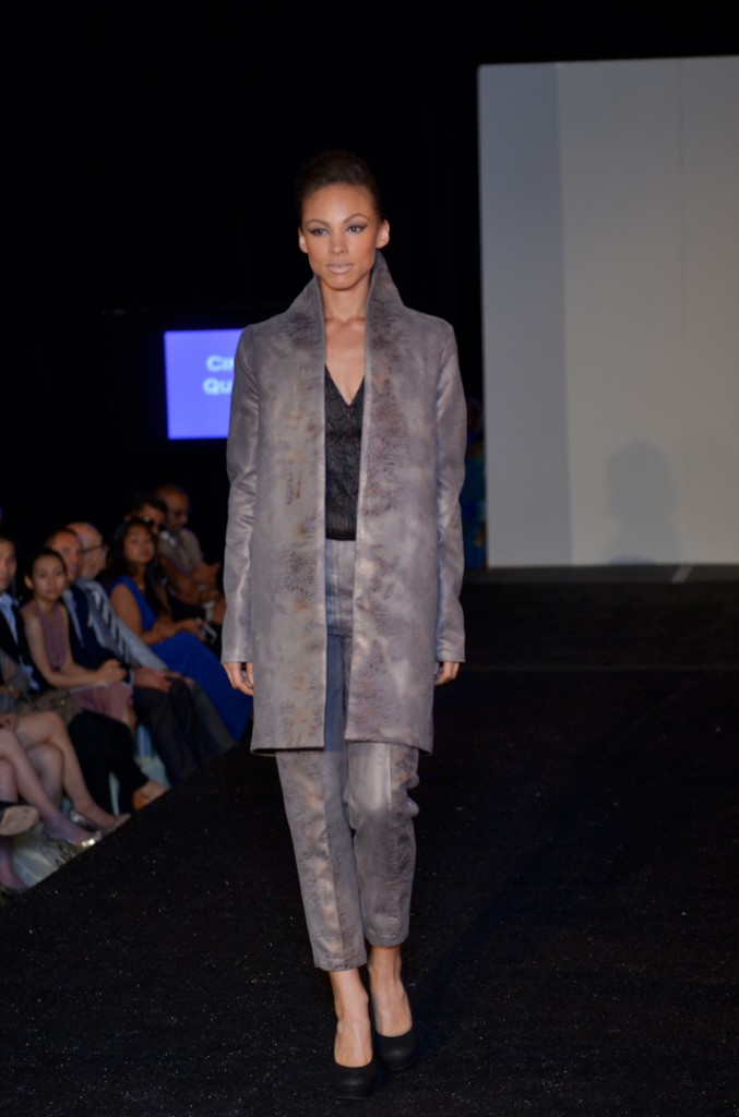 Cindy Quach's show opening model in her couture collection.