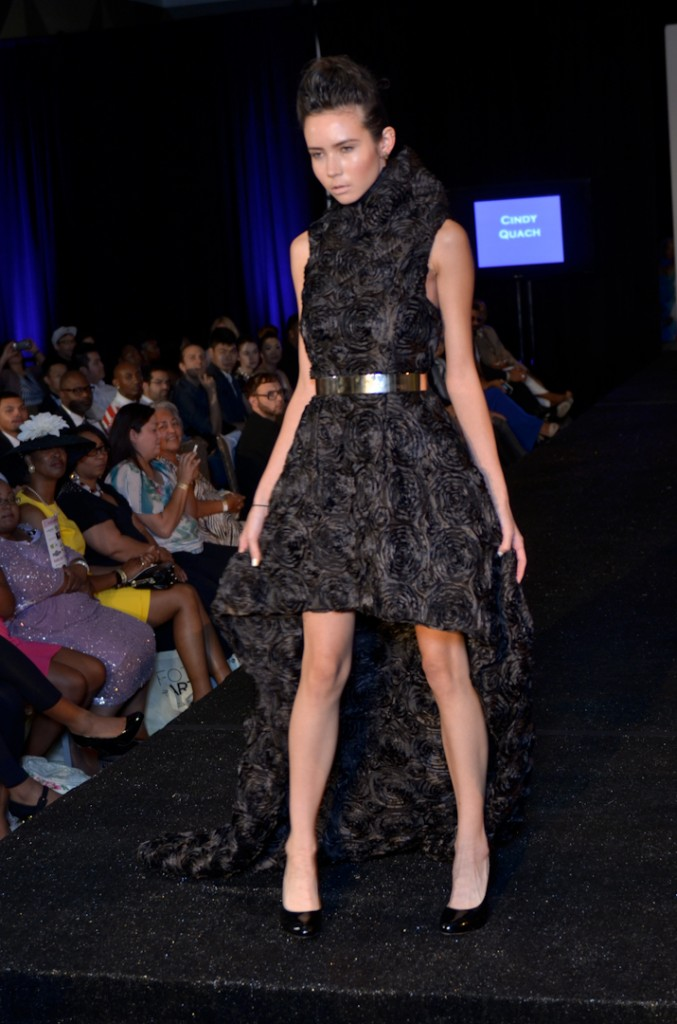 One of Cindy Quach's final looks from her Fall/Winter couture collection.