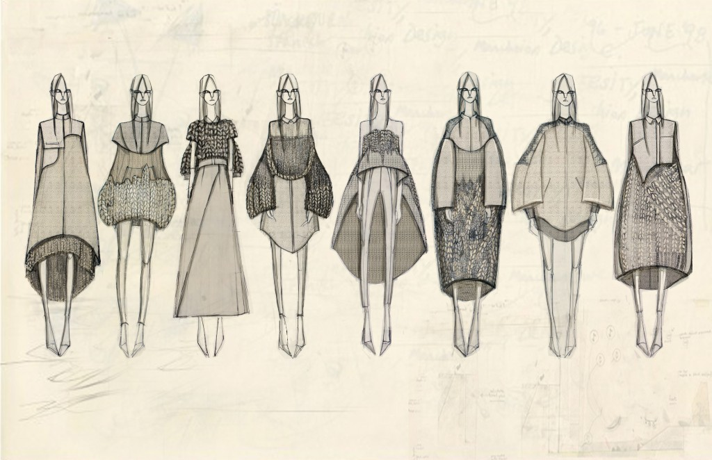 Illustration Lineup for her Spring 2015 Collection.