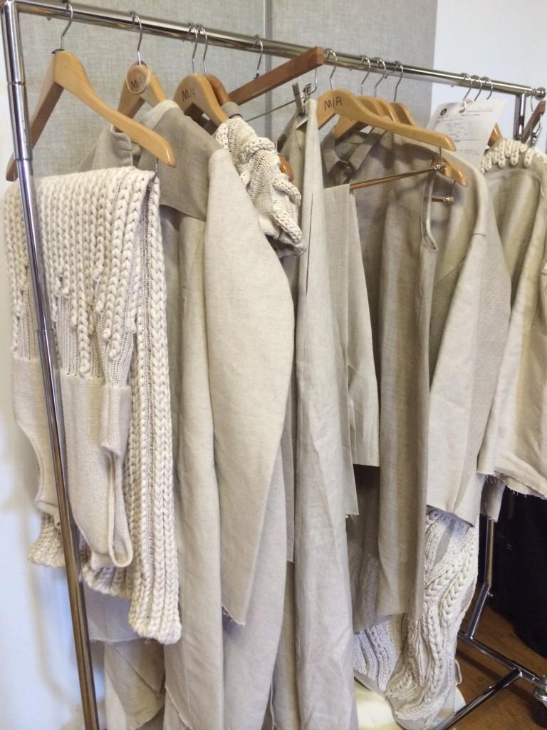 MFA Fashion and Knitwear Designer Mia Jianxia Ji's collection.