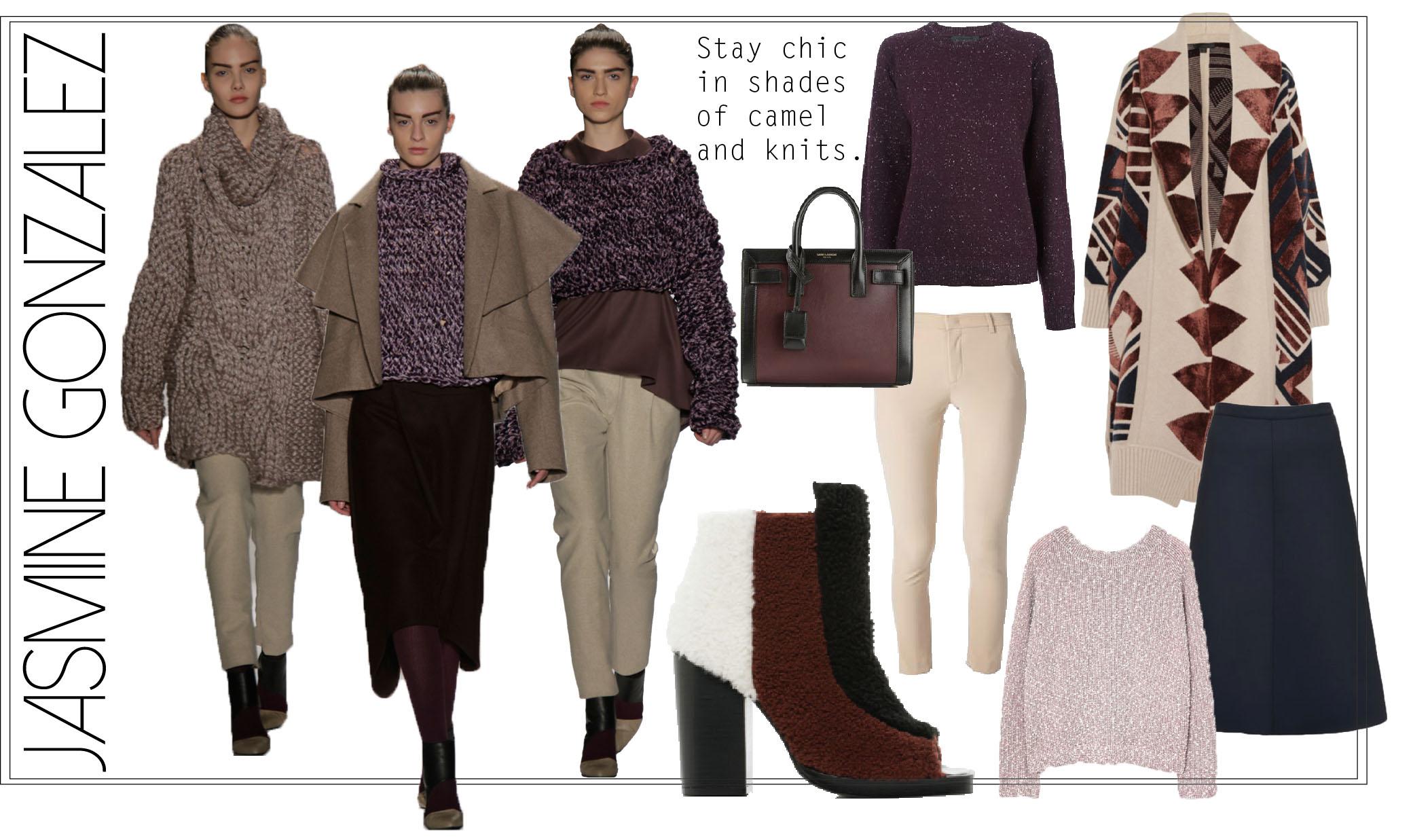 Runway designs by Jasmine Gonzalez, MFA Fashion and Knitwear Design