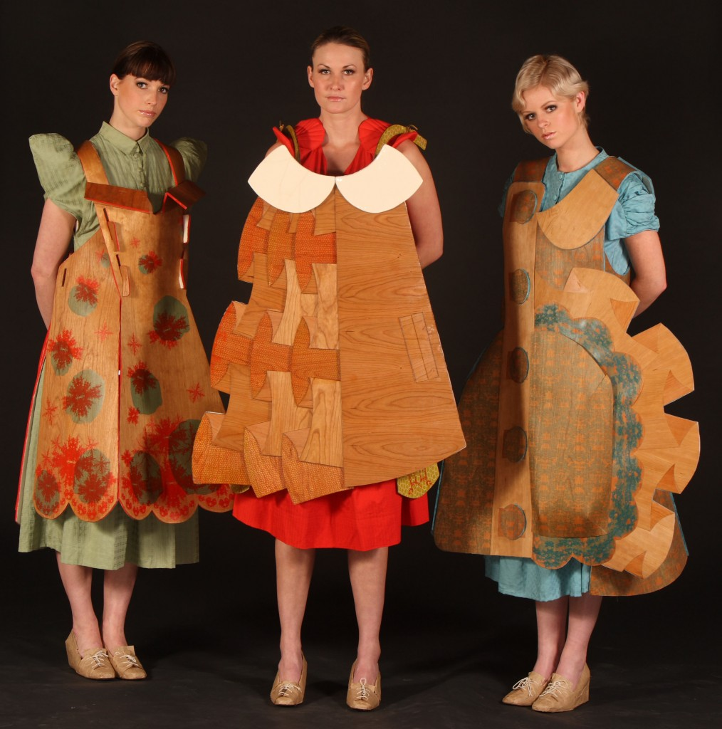Wooden Dresses, by Liina Gruener & Marjorie Cox, in World of Wearable Art