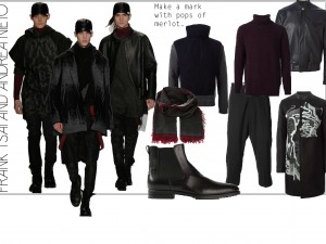 Runway looks by Frank Tsai, MFA Fashion Design, in collaboration with Andrea Nieto, BFA Textile Design