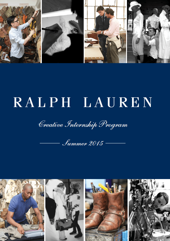 Poster of Ralph Lauren creative internship program