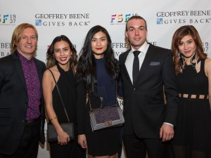 From left to right: Senior Director of Fashion Merchandising Keanan Duffty, Celina Enriquez, Michelle Hendrawan, Martin Evensen, and Busara Boussard. Photo courtesy of YMA-FSF.