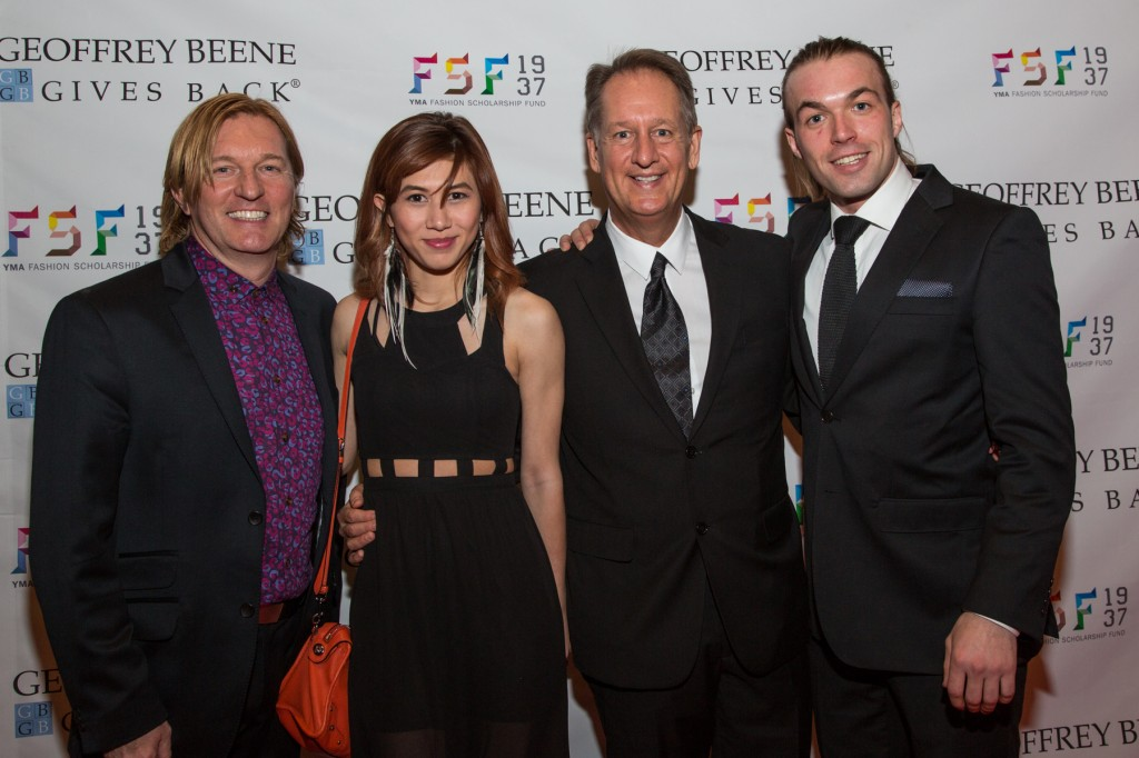 Keanan Duffty, Busara Boussard, Doug Evans  and Martin Evensen, pictured at the YMA FSF Award Dinner. Photo courtesy of YMA FSF.