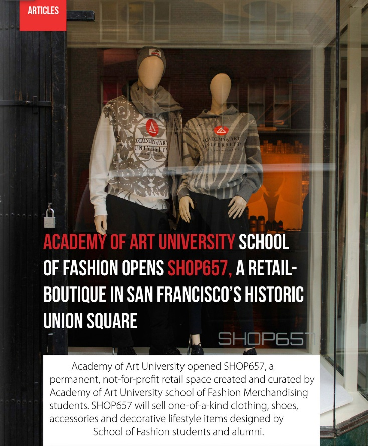 Academy of Art University opens SHOP657