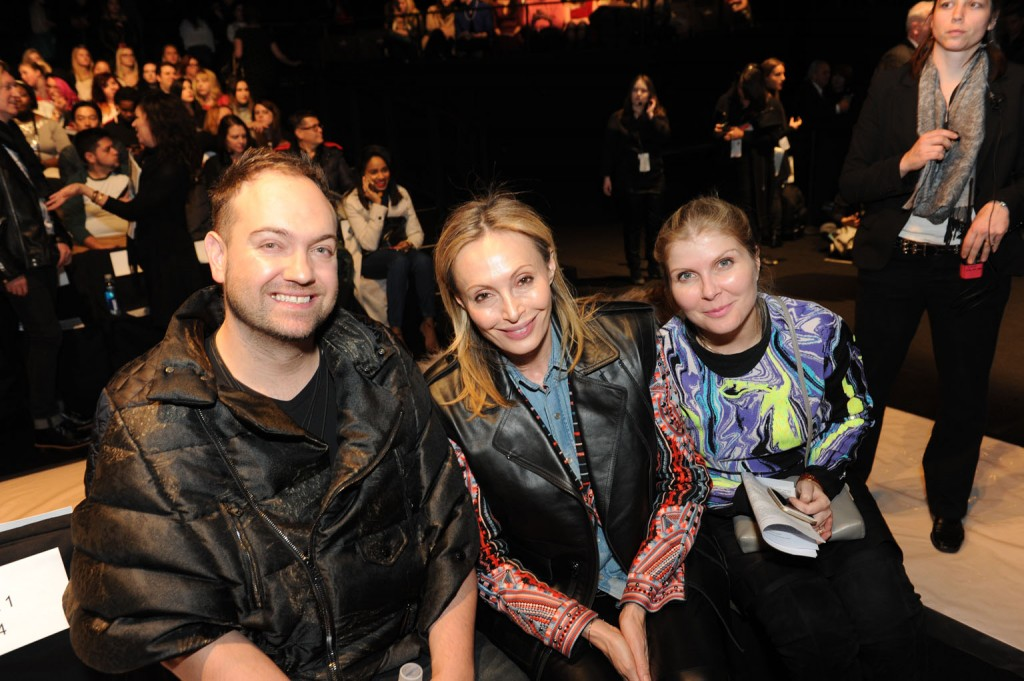 Academy of Art University alumnus and BCBG Fashion Editor Christiaan Günther, designer and Chief Creative Officer of BCBG Max Azria Group Lubov Azria, and Academy of Art University alumna and BCBG Design Director Monica Magdas Miller.      Image: David Dooley