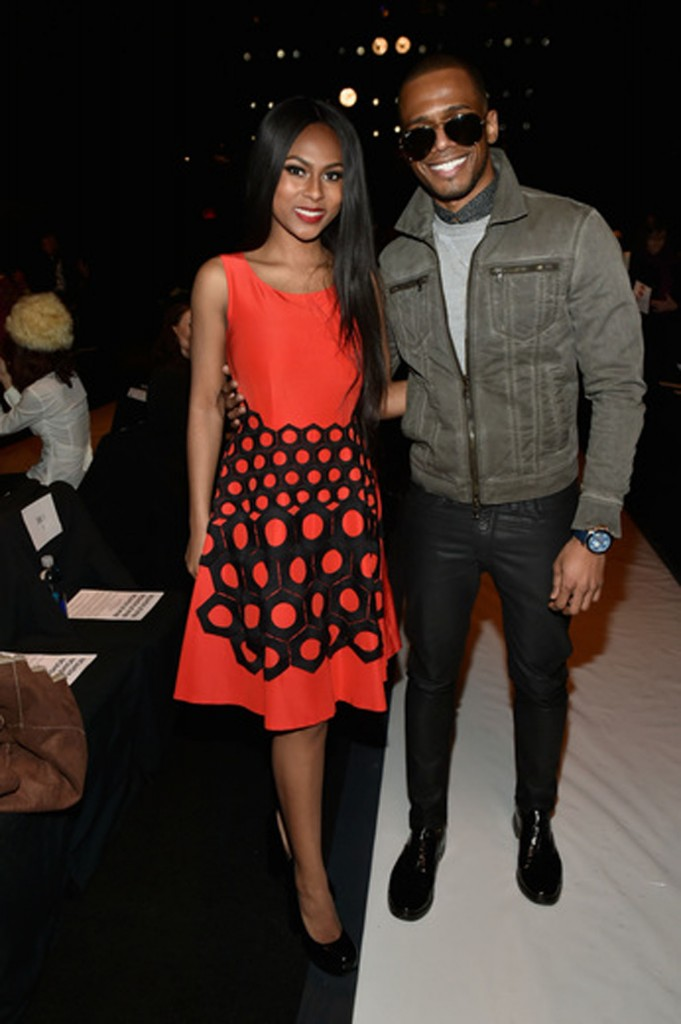 Actor and DJ Eric West with actress Tashiana Washington.   Image: Getty Images