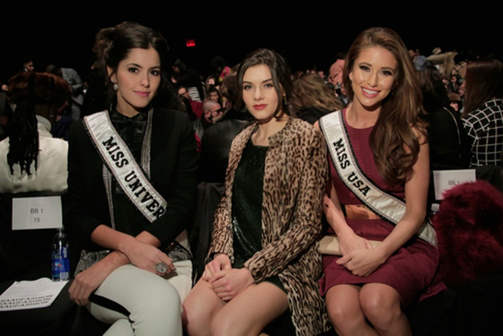 . Miss Universe 2014 Paulina Vega, Miss Teen USA 2014 K. Lee Graham, and Miss USA 2014 Nia Sanchez.    Image: Getty Images