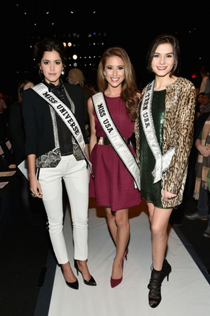 Miss Universe 2014 Paulina Vega, Miss USA 2014 Nia Sanchez, and Miss Teen USA 2014 K. Lee Graham   Image: Getty Images