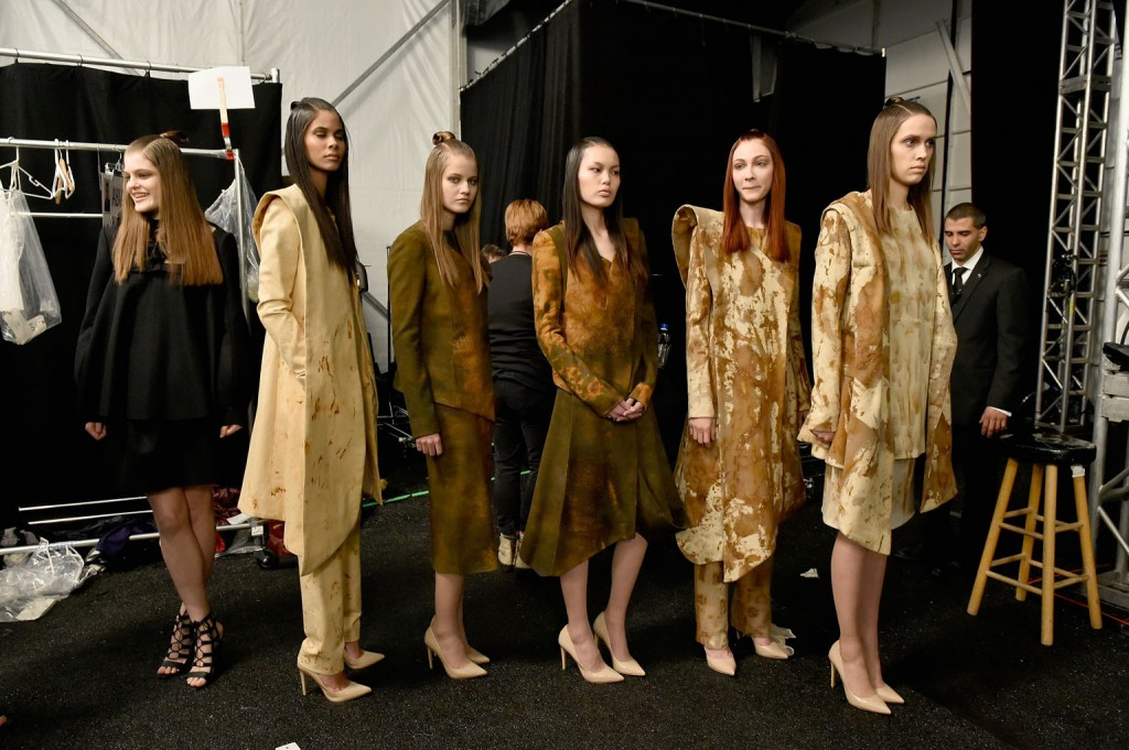 Looks from Ozanhan Kayaoglu, M.F.A. Fashion Design.    Image: Slaven Vlasic/Getty Images