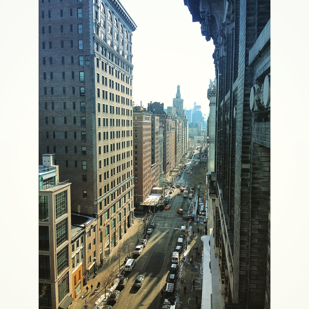 View from the Kimball Studio balcony. Photo by Chloe Preussker.