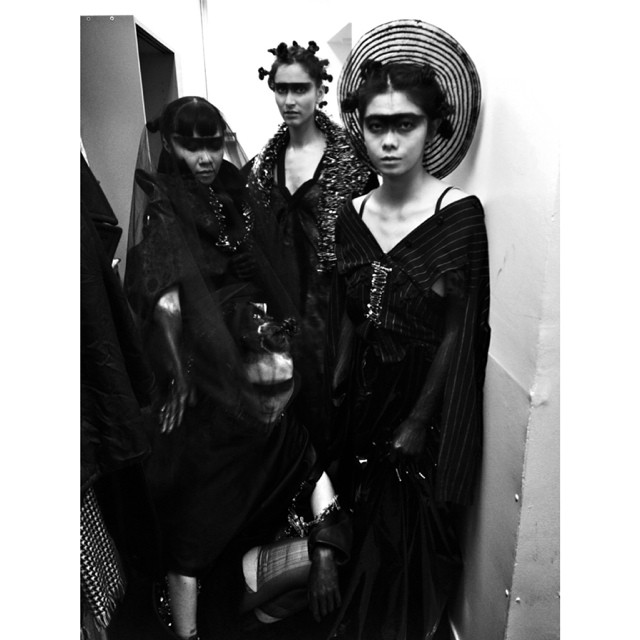 Yuko Okudaira modeling in a student fashion show  .