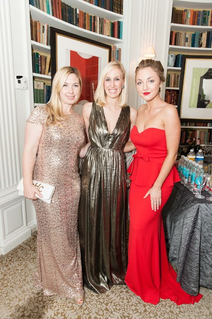 From left: Michelle Harris, Maria Hemphill and Lily Kaplan at L'Atelier. Image: Drew Altizer