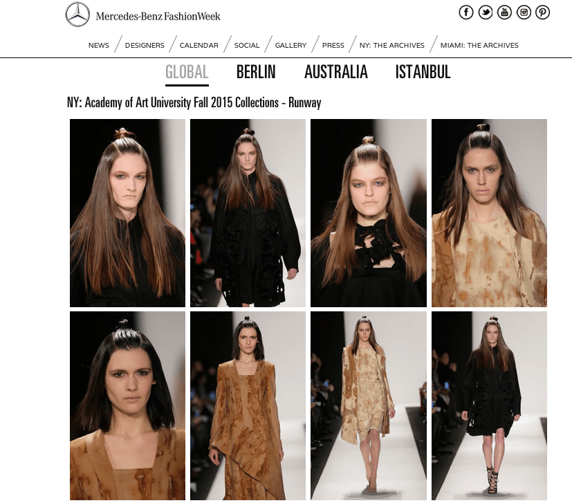 NY: Academy of Art University Fall 2015 Collections - Runway