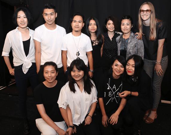 From left to right: Jingci Wang, Max Lu, Yin Yang, Liz Li, Yaqiong Zhou, Jihyun Kim, Madison Detro, Szu Chi Huang, Die Zhou, Wei Bai and Mia Jianxia Ji. Image by David Dooley.