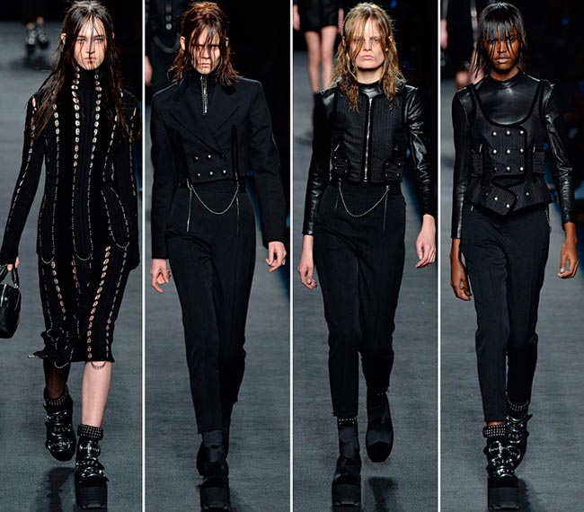 Looks from the Alexander Wang F/W 2015 collection.