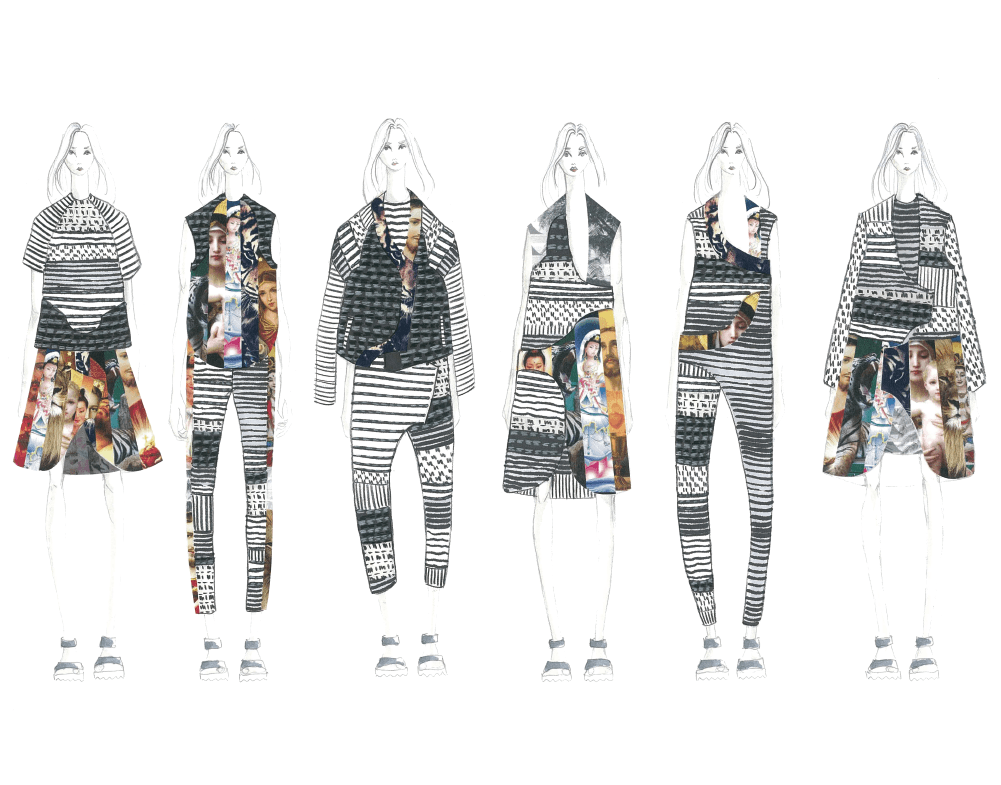 Gaia Gilad's graduation collection line-up. Image: courtesy of Gaia Giladi