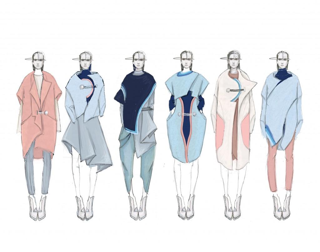 Yao's illustrated lineup. Image:courtesy of Shuman Yao