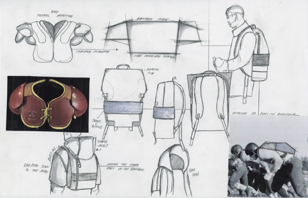 A page from Bianda's graduation collection sketchbook. Image: courtesy of Livia Bianda