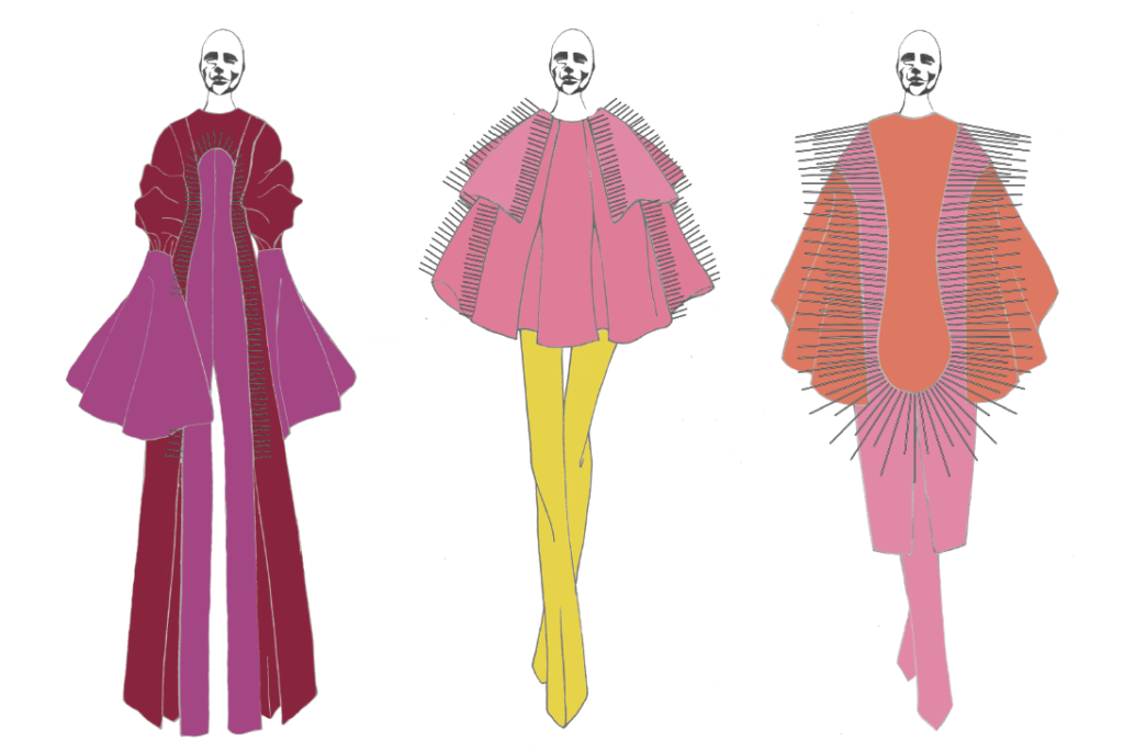 Keith Gunning's graduation collection line-up. Image:courtesy of Keith Gunning