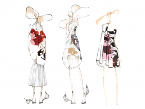 Eleonore L. Santos and Anna Metzel Collection Illustration Lineup. Image: courtesy of Eleonore L. Santos and Anna Metzel