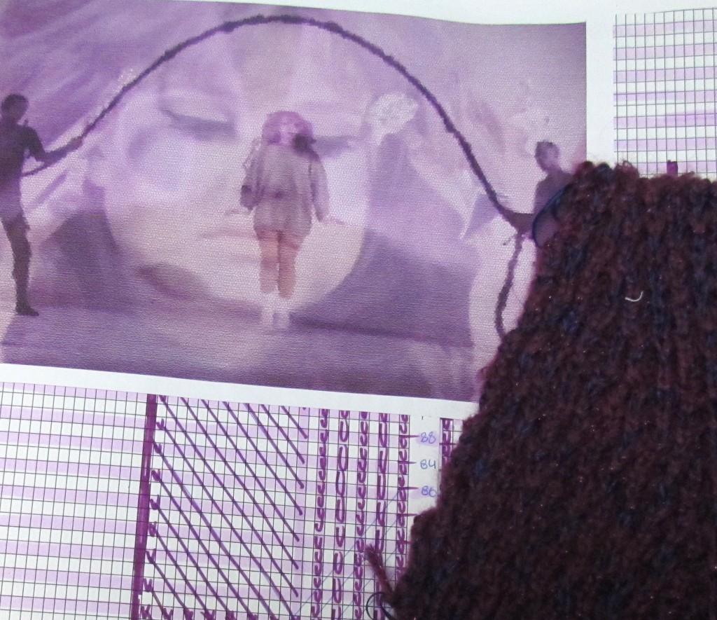 Inspiration image showing the cashmere fabric Ramirez used in the collection. Image: courtesy of Lupita Ramirez.