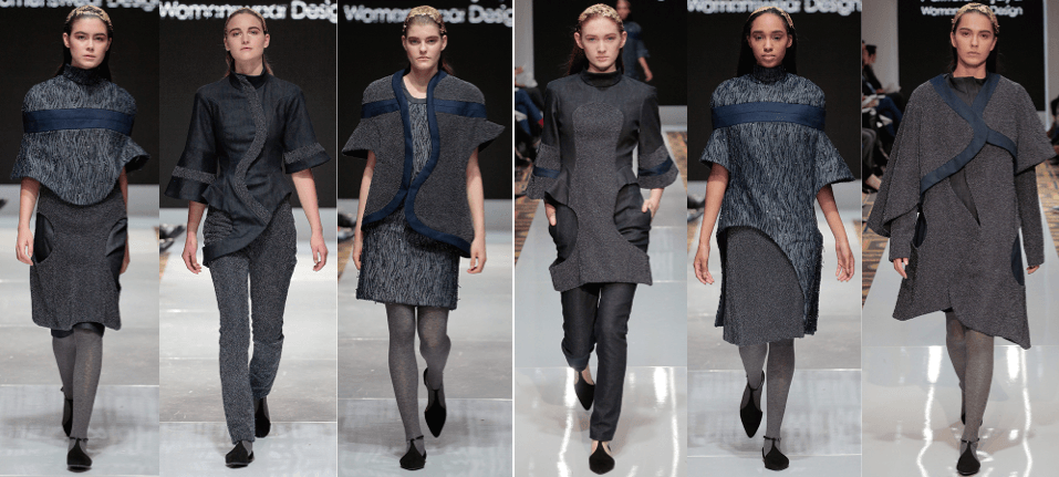 Photo of female models wearing clothing designed by Patricia Wijaya