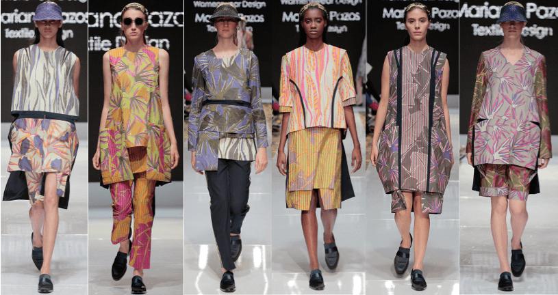 Photo of female models wearing clothing designed by Karina Garcia and Mariana Pazos